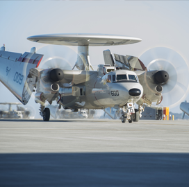 Navy Eyes Deal With Northrop to Study E-2D Hawkeye, SATCOM Integration - top government contractors - best government contracting event