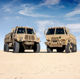 Oshkosh Defense Books $75M Army Medium Tactical Vehicle Order - top government contractors - best government contracting event