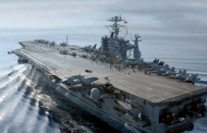 HII Shipbuilding Division Installs Final Mast Component of USS George Washington Carrier