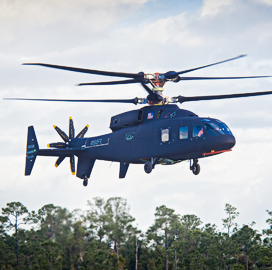 Boeing-Sikorsky Team Conducts Maiden Flight of SB-1 Defiant Helicopter - top government contractors - best government contracting event