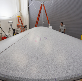 NASA, Lockheed Conclude Mars Rover Heat Shield Test - top government contractors - best government contracting event