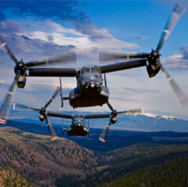 Raytheon Applies AI-Based Predictive Maintenance to Osprey Aircraft Radar - top government contractors - best government contracting event