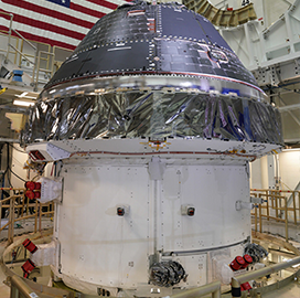 Lockheed Integrates Orion Crew Module for NASA's Artemis 1 Mission - top government contractors - best government contracting event