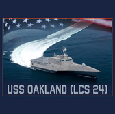 Austal USA Holds Christening for Navy's USS Oakland Combat Ship - top government contractors - best government contracting event
