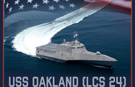 Austal USA Holds Christening for Navy's USS Oakland Combat Ship