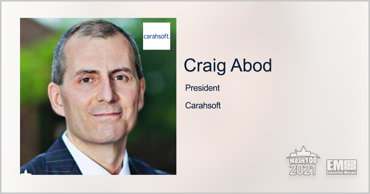 AWS Partners With Carahsoft, Buurst on Data Migration Efforts to Cloud; Craig Abod Quoted